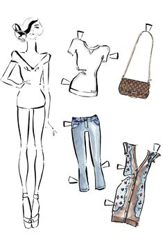 For The Cool Kid In You: Louis Vuitton Paper Dolls! #refinery29  http://www.refinery29.com/2013/01/41239/louis-vuitton-paper-dolls#slide-4  Courtesy of Louis Vuitton....