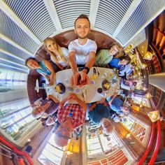 Turned 28 today  here I am with the fam having lunch- I'm really not much of a party animal so the loosest this party got was me ordering my second coffee of the day!  Shot with Insta360 Nano in HDR mode