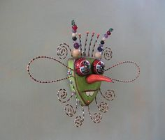 Twisted Mosquito Original Found Object Wall Art by FigJamStudio, $63.00