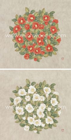 Floral Illustrations, Pencil Illustration, Graphic Illustration, Korean Painting, Chinese Painting, Korean Art, Asian Art, Decoupage, Japanese Embroidery