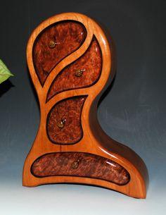 Redwood Burl on Cherry Picasso Jewelry Box