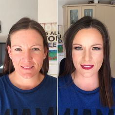 Makeup before and after done by Jessica Hilliar