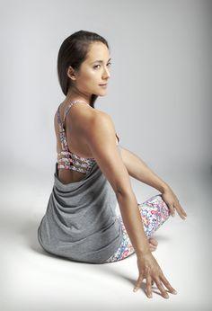 KiraGrace  - Grace En Pointe Y-Back (Heather Grey/Spring Paisley), $88.00 (http://www.kiragrace.com/grace-en-pointe-y-back-heather-grey-spring-paisley/)