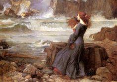 B.B.Art Blog : John William Waterhouse - Miranda e la tempesta - ...