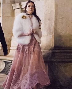 Celebmove is your primary destination for the very latest women celebrity. Daily updates give Elizabeth Gillies, Millie Bobby Brown, Paris, White Girls, American Actress, Sequin Skirt, Fur Coat, Instagram, Hollywood