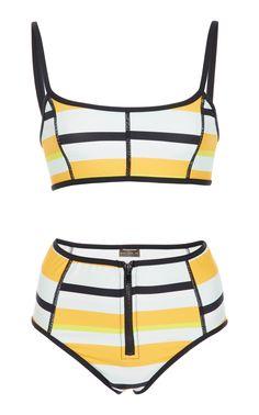 4025b65ef7 Sporty Striped Bikini Set by PROENZA SCHOULER Bikini Mayo