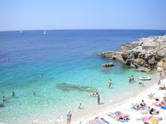 Verudela beach, Pula, Croatia. One of the many beaches on the Istrian peninsula…