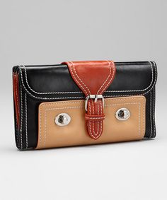 Black & Brick Belt Wallet by PB Couture; This might make me replace my current wallet which I love.