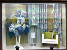 Store window displays, display window, curtain shop, fabric display, home f Showroom Design, Shop Interior Design, Store Design, Display Design, Store Window Displays, Retail Displays, Shop Displays, Display Window, Vitrine Design