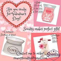 Valentine's Day is right around the corner. Ladies let your men know you want Scentsy!