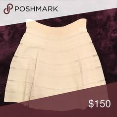 "Ronny Kobo Off White sweater skirt Thin off white sweater skirt, (I am 5""7 and fits till my knees) gently used Skirts"