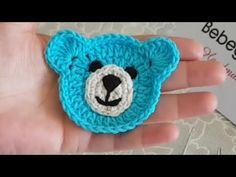 48 New Ideas for baby blanket bear pattern Crochet Applique Patterns Free, Crochet Flower Patterns, Crochet Blanket Patterns, Baby Knitting Patterns, Crochet Motif, Baby Blanket Crochet, Crochet Flowers, Baby Applique, Baby Bibs Patterns