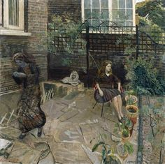 Carel Weight - The Departing Angel. - Carel Weight - The Departing Angel - Tate Gallery, Royal Academy Of Arts, Grey Art, Royal College Of Art, Art Uk, London Photos, Figure Painting, Painting Art, Painting Gallery
