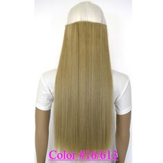 "24"" (60cm) 120g straight 5 clips on hair extension clip in hair extensions color #16/613 Mix Colors"