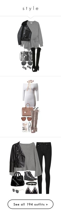 """s t y l e"" by sarahanaya ❤ liked on Polyvore featuring Monki, Stuart Weitzman, Acne Studios, Yves Saint Laurent, Michael Kors, Smoke x Mirrors, Sonix, intimates, shapewear and valentino"
