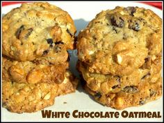 White Chocolate and Cranberry Oatmeal Cookies