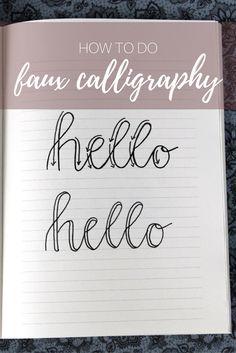 Was ist Faux Calligraphy und wie lerne ich auch so schön zu schreiben? Die Antworten findest du auf meinem Blog!