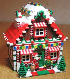 LEGO Custom Gingerbread House Christmas Train Holiday Train City Town Santa Elf it is almost for Christmas Lego Duplo, Minifigures Lego, Christmas Train, Noel Christmas, Christmas Crafts, Holiday Train, Lego Christmas Village, Christmas Houses, Christmas Images