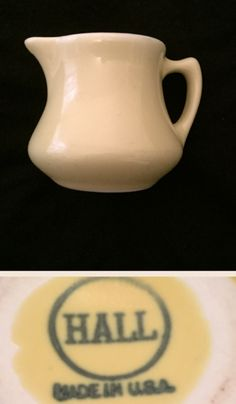 Hall China yellow creamer.   Backstamp dates circa 1930s - circa 1970s.