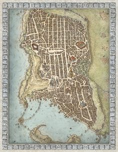Lords of Waterdeep Boardgame Map by MikeSchley.deviantart.com on @DeviantArt