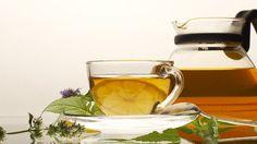 Скачать обои чашка, блюдце, ложка, мята, чай, лимон, раздел еда в разрешении 1600x900