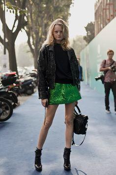 MY FASHION TRICKS: Model street style:Hanne Gaby Odiele