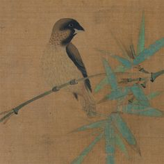 Finches and Bamboo | Artist: Emperor Huizong, Chinese, 1082–1135, reigned 1101–25 | Period: Song dyansty, early 12th century | Medium: Handscroll; ink, color on silk | One Met. Many Worlds. | The Metropolitan Museum of Art