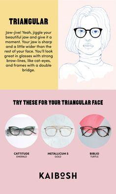 KAIBOSH | Glasses for Triangular Face Shapes | Shop glasses now on www.kaibosh.com