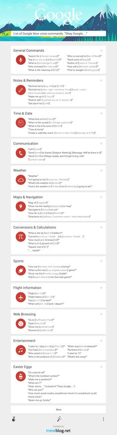 Learn Over 60 Google Now Commands with This Infographic
