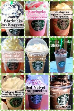 Starbucks Cookies, Café Starbucks, Starbucks Holiday Drinks, Healthy Starbucks Drinks, Starbucks Frappuccino, Yummy Drinks, Starbucks Secret Menu Items, Starbucks Secret Menu Drinks, Smoothies