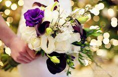 winter bouquet - purple, green, white