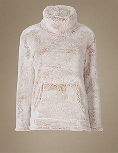 Long Sleeve Cosy Pyjama Top   M&S