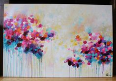 abstract painting acrylic on canvas modern by artbyoak1 on Etsy