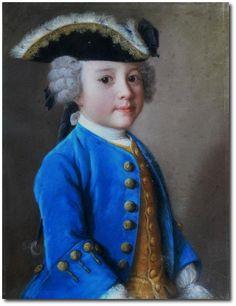 Jean-Etienne Liotard peinture,pastel,1744 of Jacques de Chapeaurouge