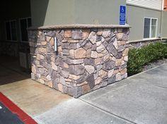 Stone Veneer Exterior, Stone Siding, Exterior Siding, Interior And Exterior, Brick Interior, Manufactured Stone Veneer, Stone Accent Walls, Underground Bunker, Windows