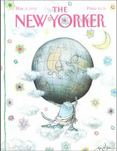 The New Yorker - Monday, March 1992 - Issue # 3498 - Vol. 68 - N° 2 - Cover by Ronald Searle The New Yorker, New Yorker Covers, Ronald Searle, Magazine Art, Magazine Covers, Vintage Magazines, Map Art, Cover Art, Illustration Art