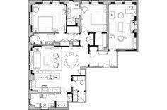 A two bedroom floor plan