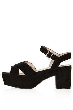 NOVA Suede Platform Sandals - Heels  - Shoes $110 Very comfortable and great lines!