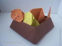 Мастер-класс Оригами: Семейство персидских котиков Бумага. Фото 1