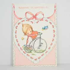 Items similar to Vintage Betsey Clark Valentines Day Card 1974 Unused on Etsy Little Valentine, Valentines For Kids, Childhood Characters, Clark Art, Stationary School, Sweet Little Things, Holly Hobbie, American Greetings, Kawaii