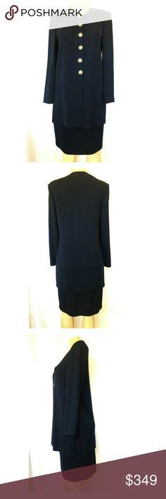 af2fbd3d9120 St John Skirt Set Suit 2 pc Jacket Blazer Pencil W St John Basics Skirt Suit