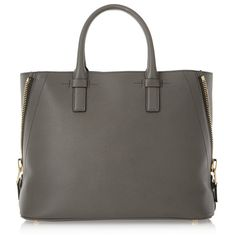 Tom Ford Jennifer textured-leather tote ($2,300) ❤ liked on Polyvore featuring bags, handbags, tote bags, grey, grey tote bag, grey purse, purse, shoulder strap handbags and tom ford