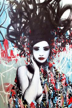 Street art by Hush