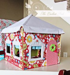 Super cute for card table playhouse!