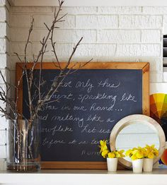 DIY: how to use chalkboard paint? Chalkboard paint is a fun and easy-to-use product with tons of creative potential #diy #chalkboard
