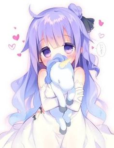 manga kawaii avec doudou licorne - Anime World 2020 Anime Neko, Kawaii Anime Girl, Loli Kawaii, Chica Anime Manga, Anime Girl Cute, Kawaii Chibi, Beautiful Anime Girl, Anime Art Girl, Anime Girls