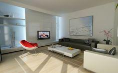 salon contemporain de style moderne