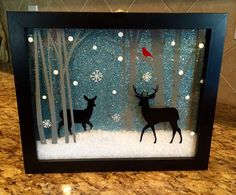 DIY Christmas Shadow Boxes: You are in the right place about Frame Crafts for boys Here we offer you the most beautiful pictures about the Frame Crafts for teens you are looking for. Diy Christmas Shadow Box, Christmas Nativity Scene, 3d Christmas, Christmas Projects, Christmas Decorations, Christmas Ornaments, Christmas Box Frame Ideas, Christmas Gift Box Template, Christmas Canvas