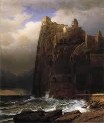 Tempesta a Marina Piccola, by Johan Christian Dahl