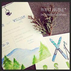 Image result for invitation ski lodge